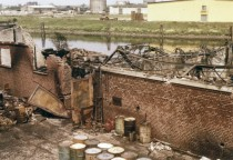 18.05.1974 After the fire in our warehouse.